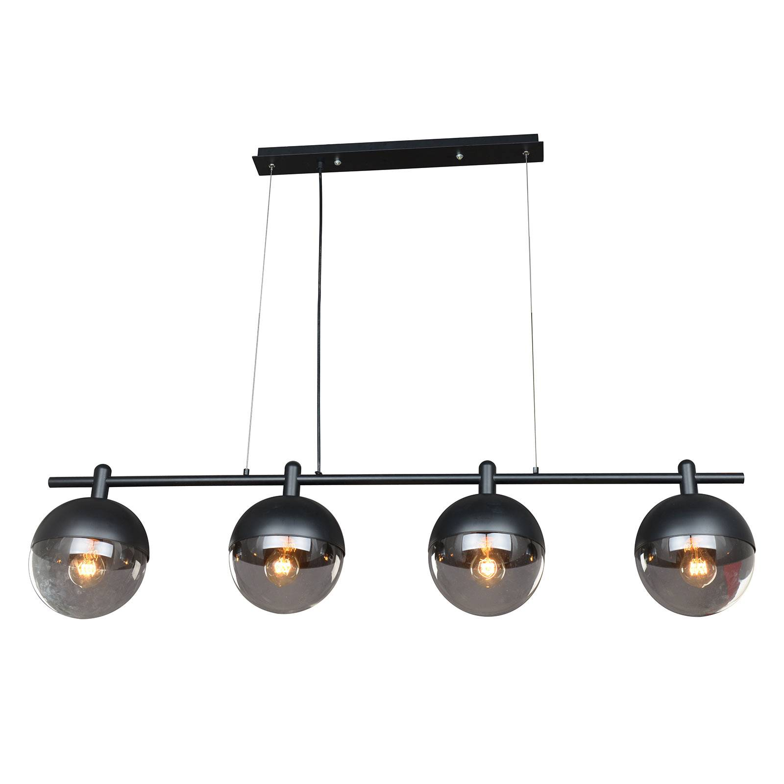 Lucande Dustian suspension à 4 lampes