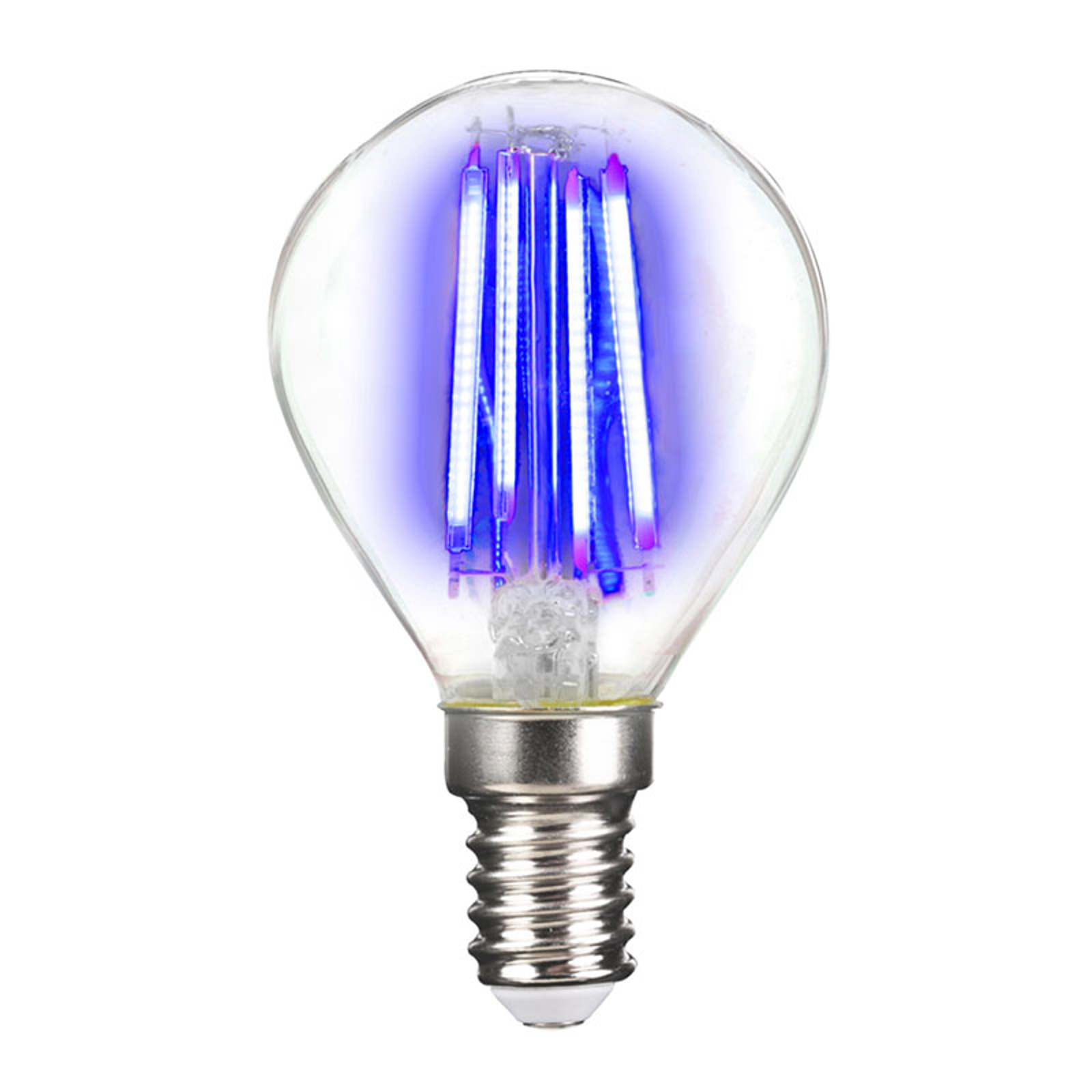LED-Lampe E14 4W Filament, blau