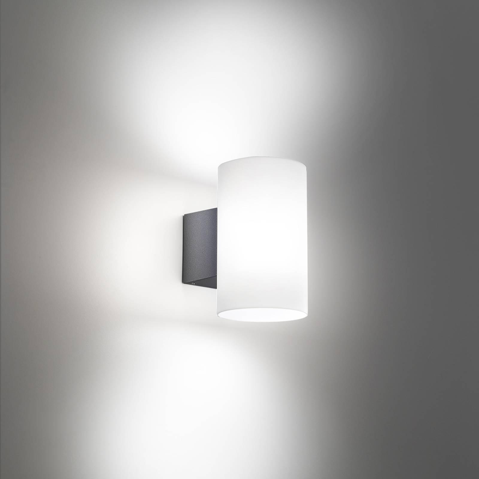 LED-Außenwandleuchte Bianca in Dunkelgrau