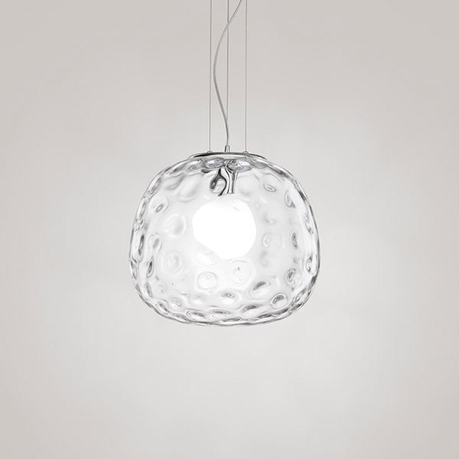 Hanglamp 6468 met transparante glas Ø 40 cm