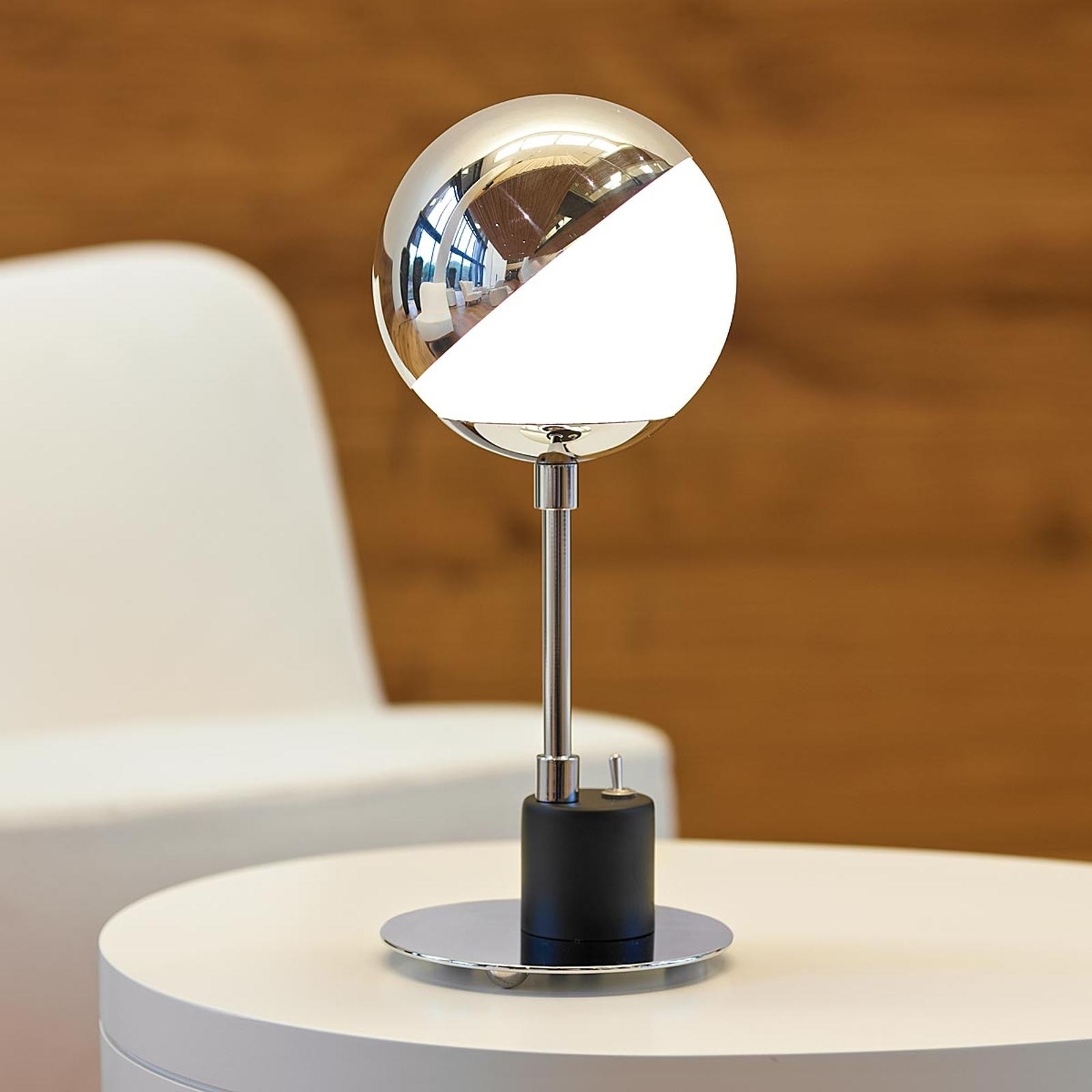 Design-tafellamp met halve bol
