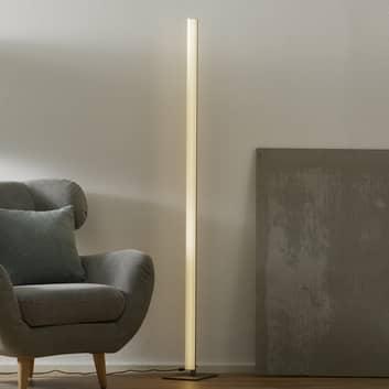 Helestra Venta – LED-gulvlampe, matt nikkel