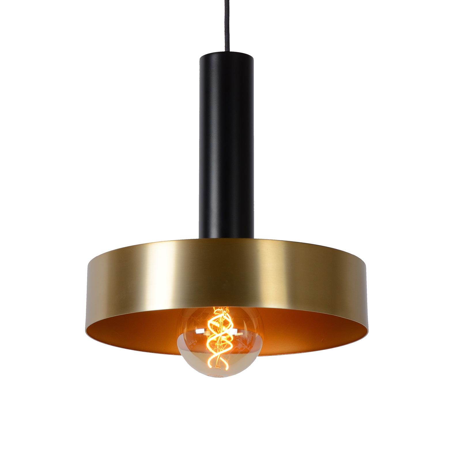 Lampa wisząca Giada czarna złota Ø 30 cm