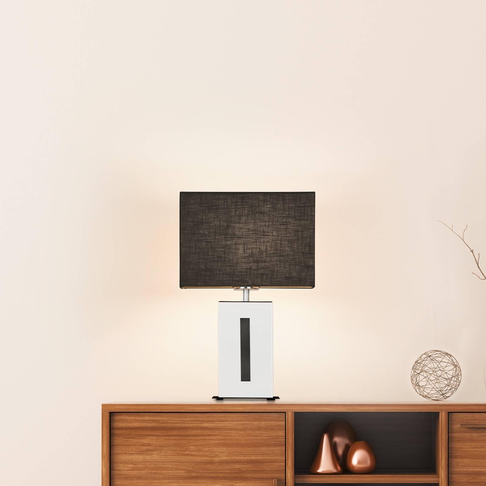 BANKAMP Karlo tafellamp wit/zwart, hoogte 47cm