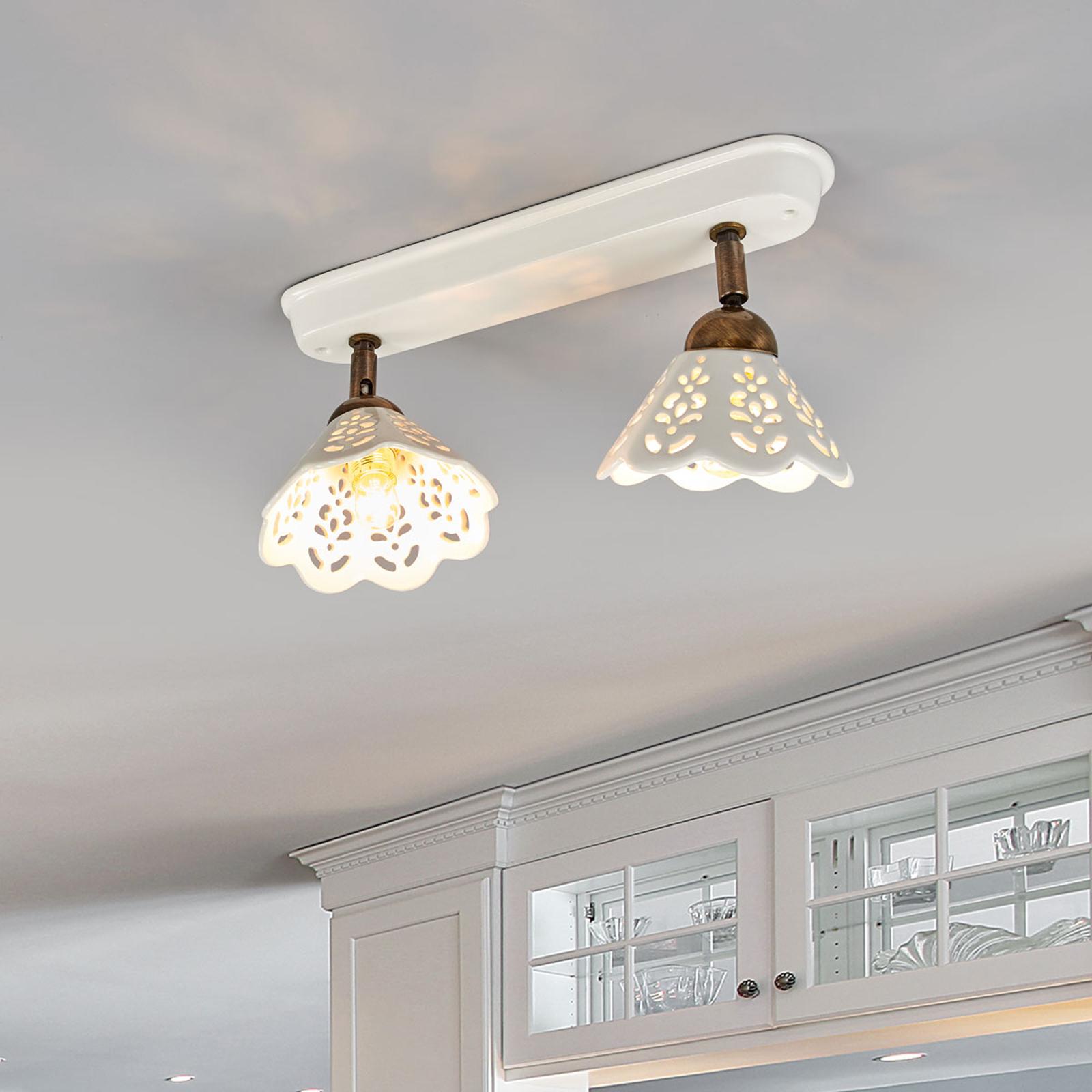 Lámpara de pared y de techo Portico 2 luces