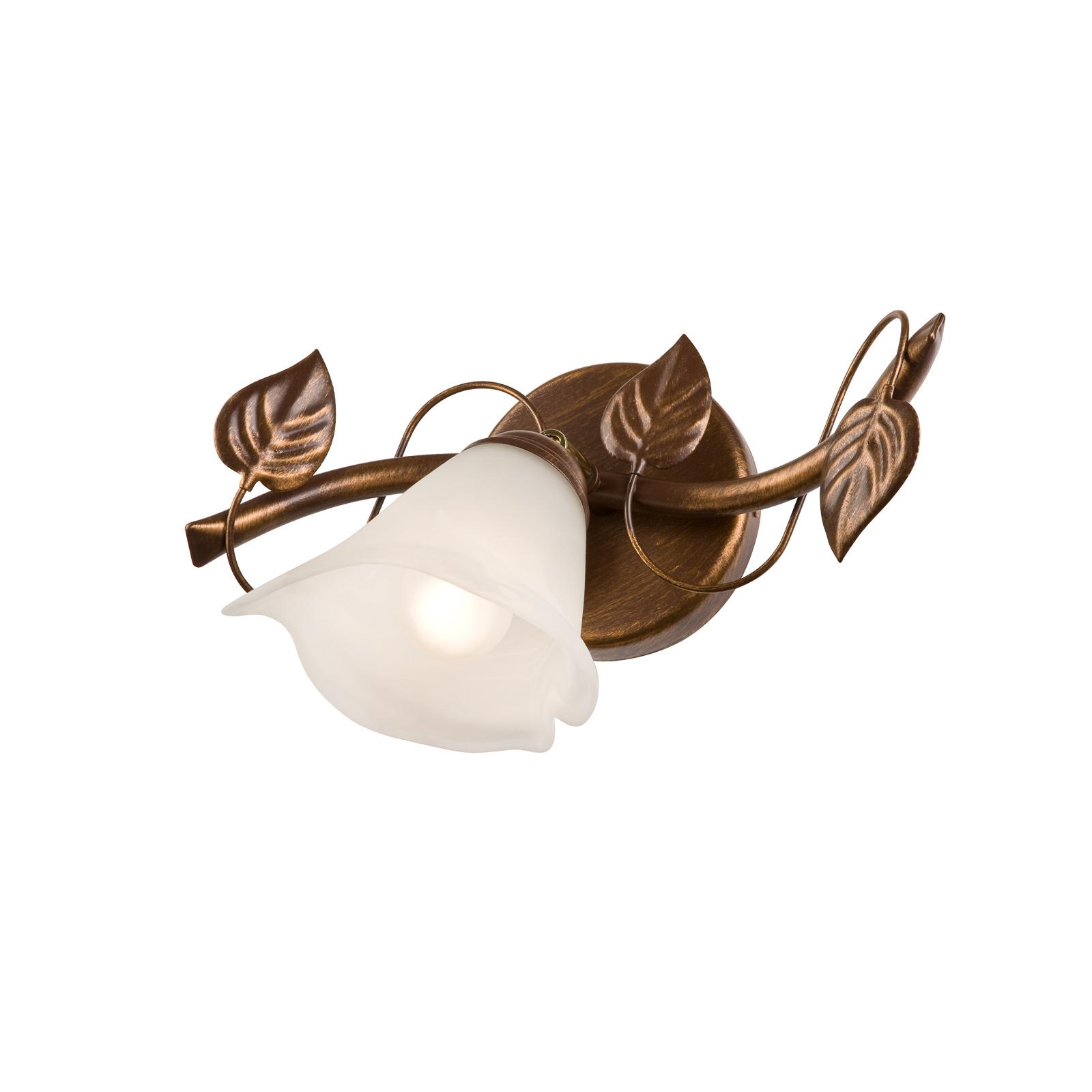 Væglampe Siena florentinerstil 1lk downlight