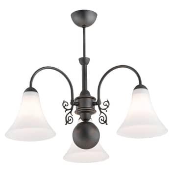 Plafoniera Albena, 3 luci, antracite