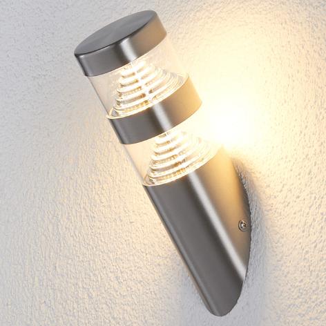 LED-utendørs vegglampe Lanea skrå