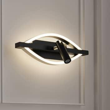 Lucande Matwei aplique LED, ovalado, níquel