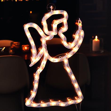 Silhouette fenêtre LED Ange intérieur, 50lampes