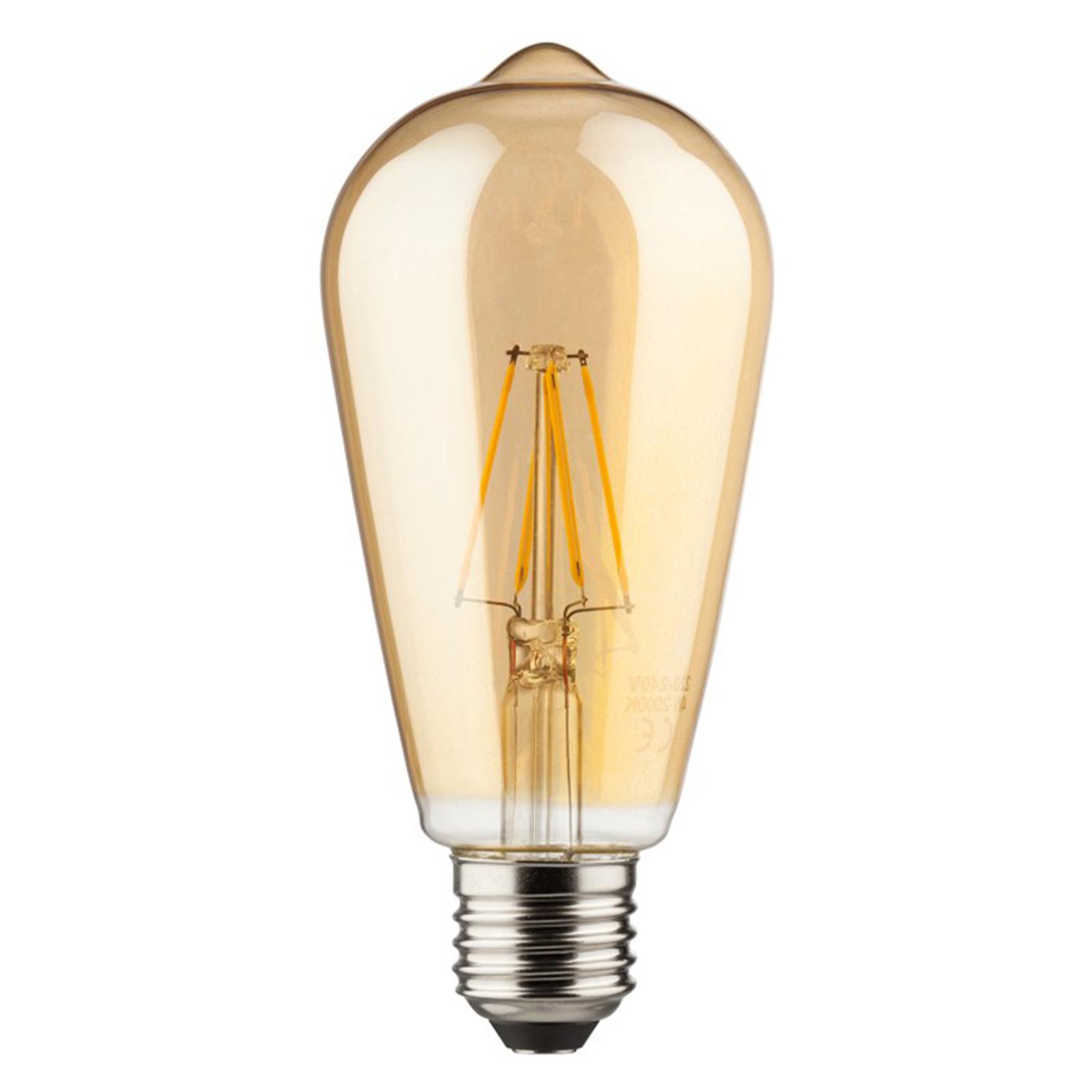 E27 6W 820 LED gloeilamp Rustika goud
