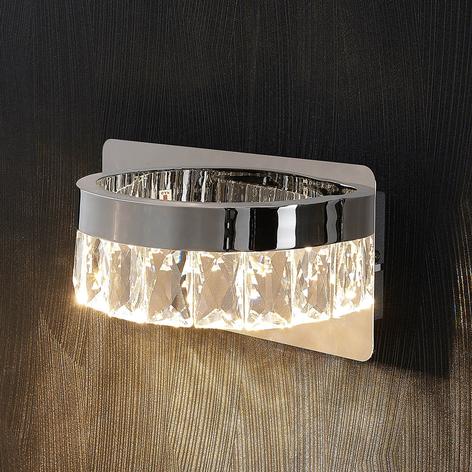 Applique a LED Sula cromata con cristalli