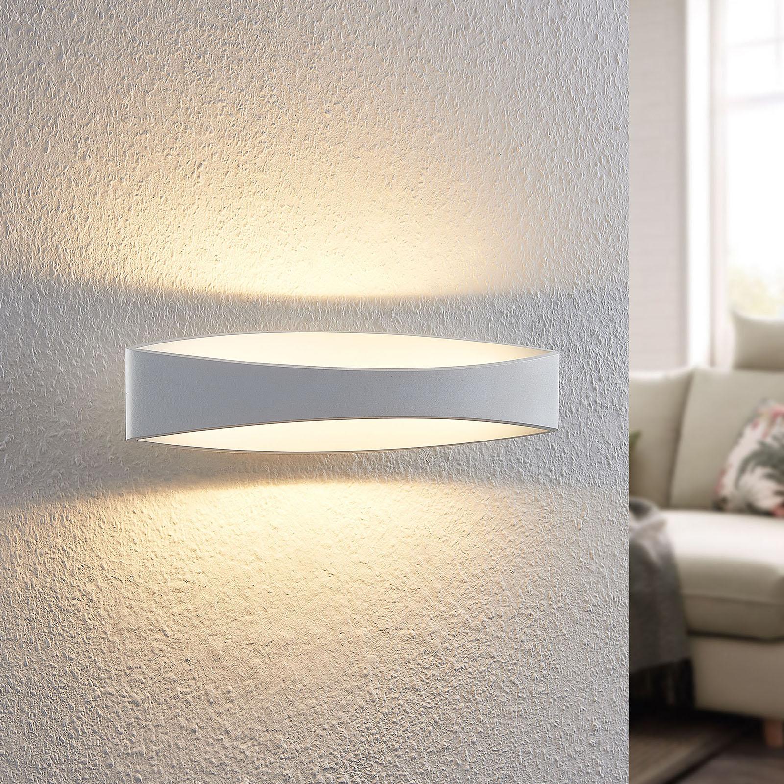 Arcchio Jelle LED-vegglampe, 43,5 cm, hvit