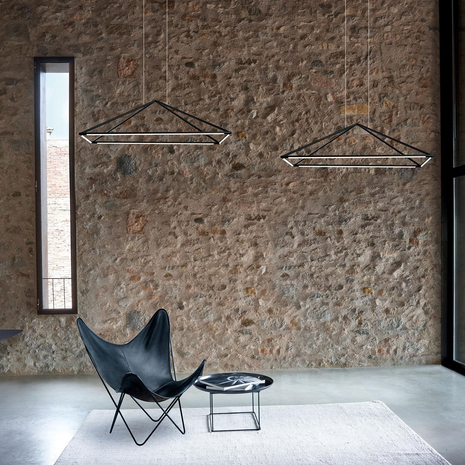 Grok Tubs LED hanglamp in mat-zwart 90x60 cm