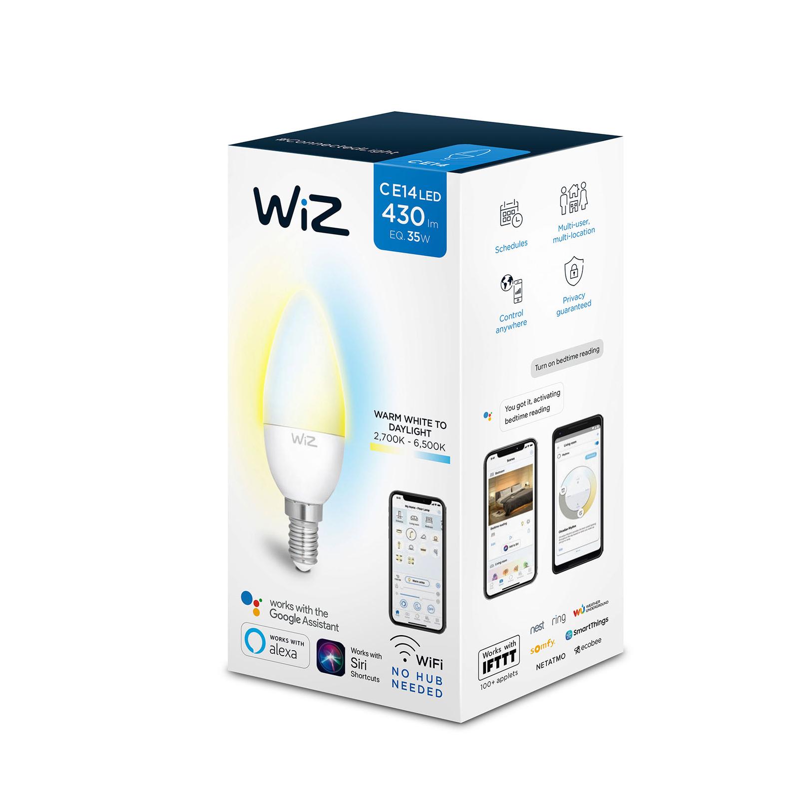 WiZ E14 LED-Lampe Kerze matt 5,5W 2.700-6.500K