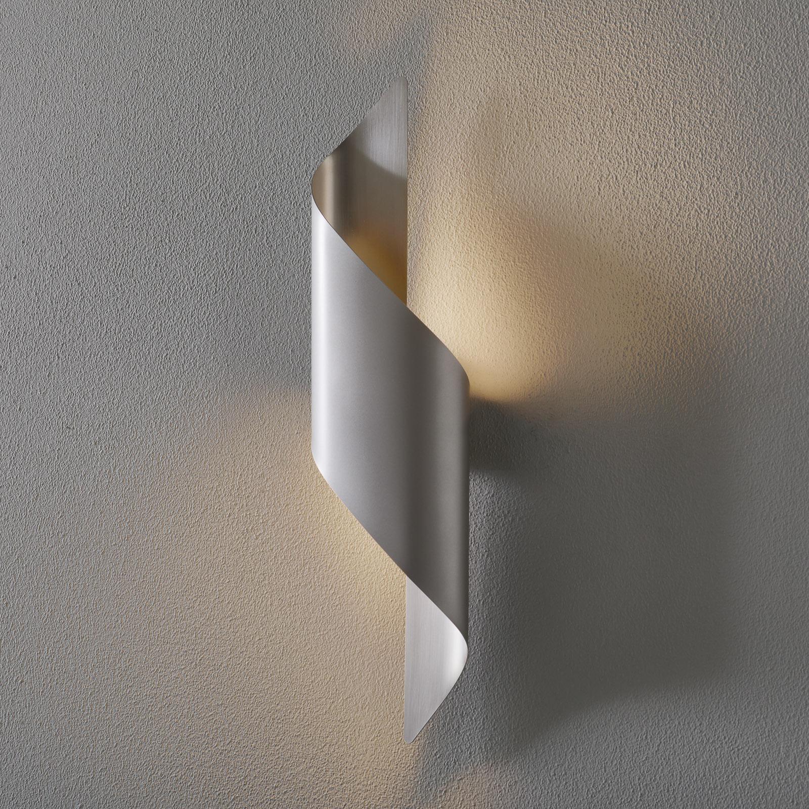 LED-Wandleuchte Fanes, 50 cm hoch, perlgrau