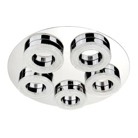Loftslampe Caris til badeværelset med 5 LED-lys