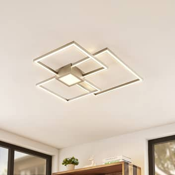 Lindby Duetto LED-Deckenlampe nickel 38 W