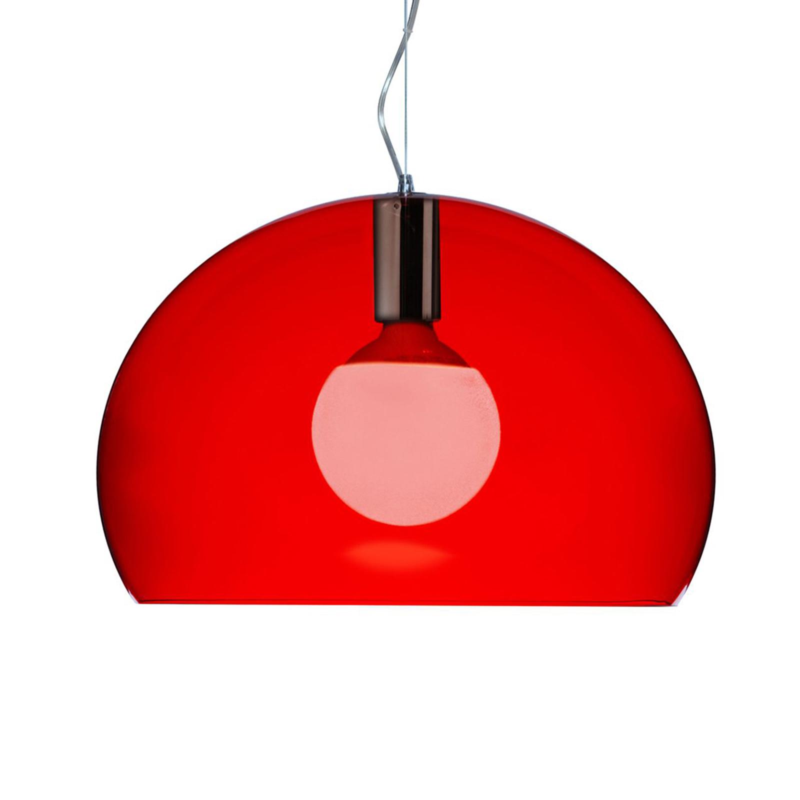 Kartell Small FL/Y LED-Hängeleuchte rot