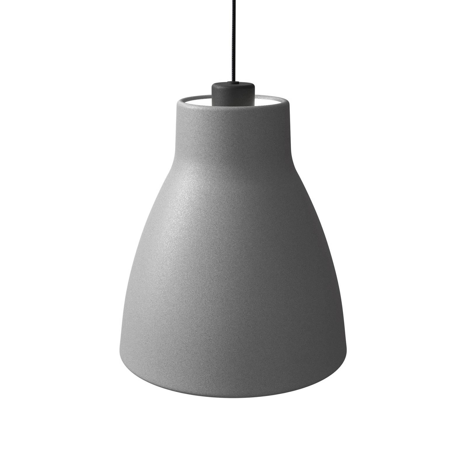 Pendelleuchte Gong, Ø 25 cm, betonfarben
