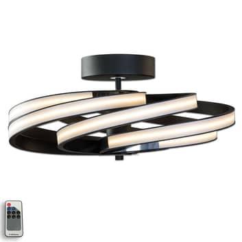 Zoya – nowoczesna lampa sufitowa LED, czarna