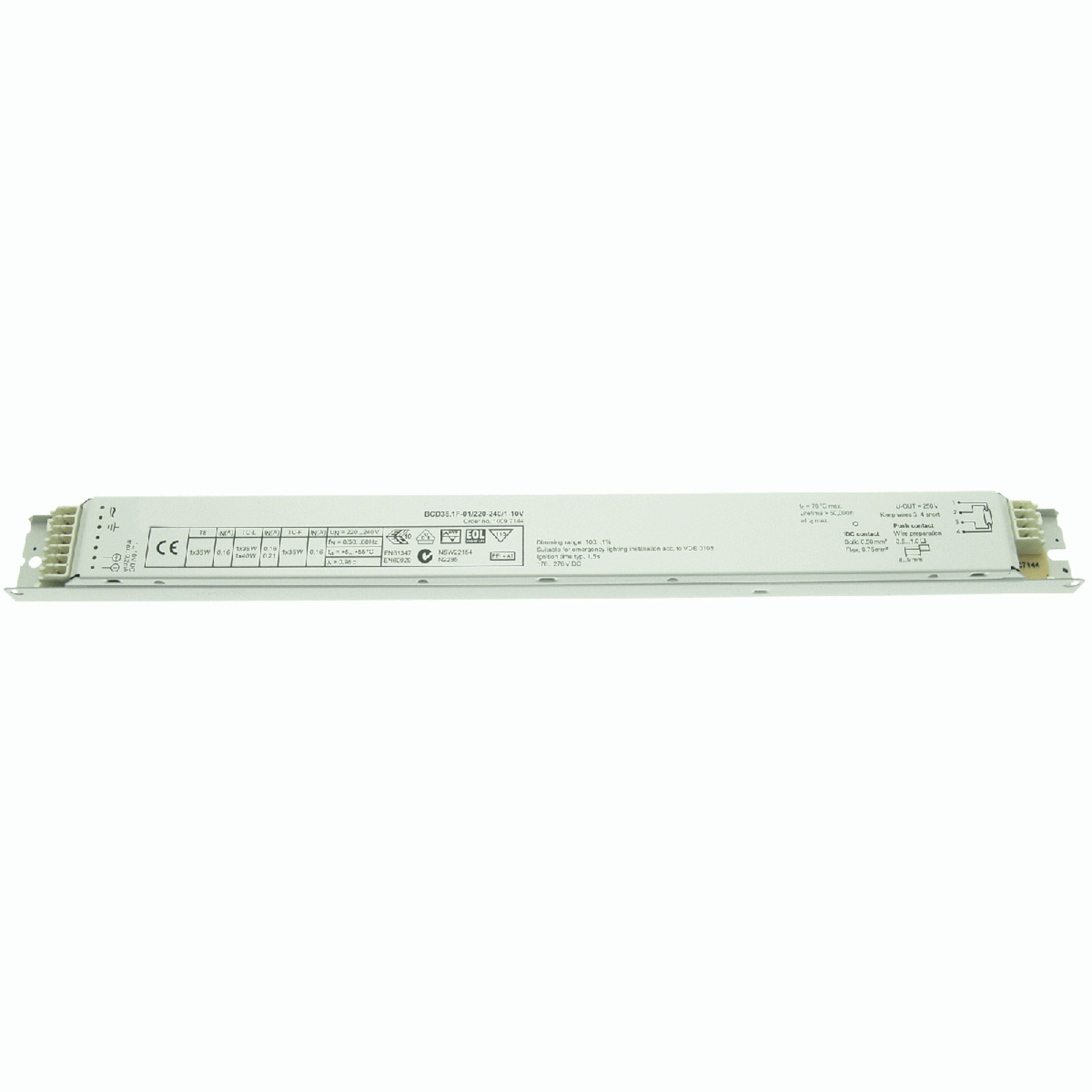 BE 18/36W T8 BCD36.1F-01/220-240/1-10V dimmable