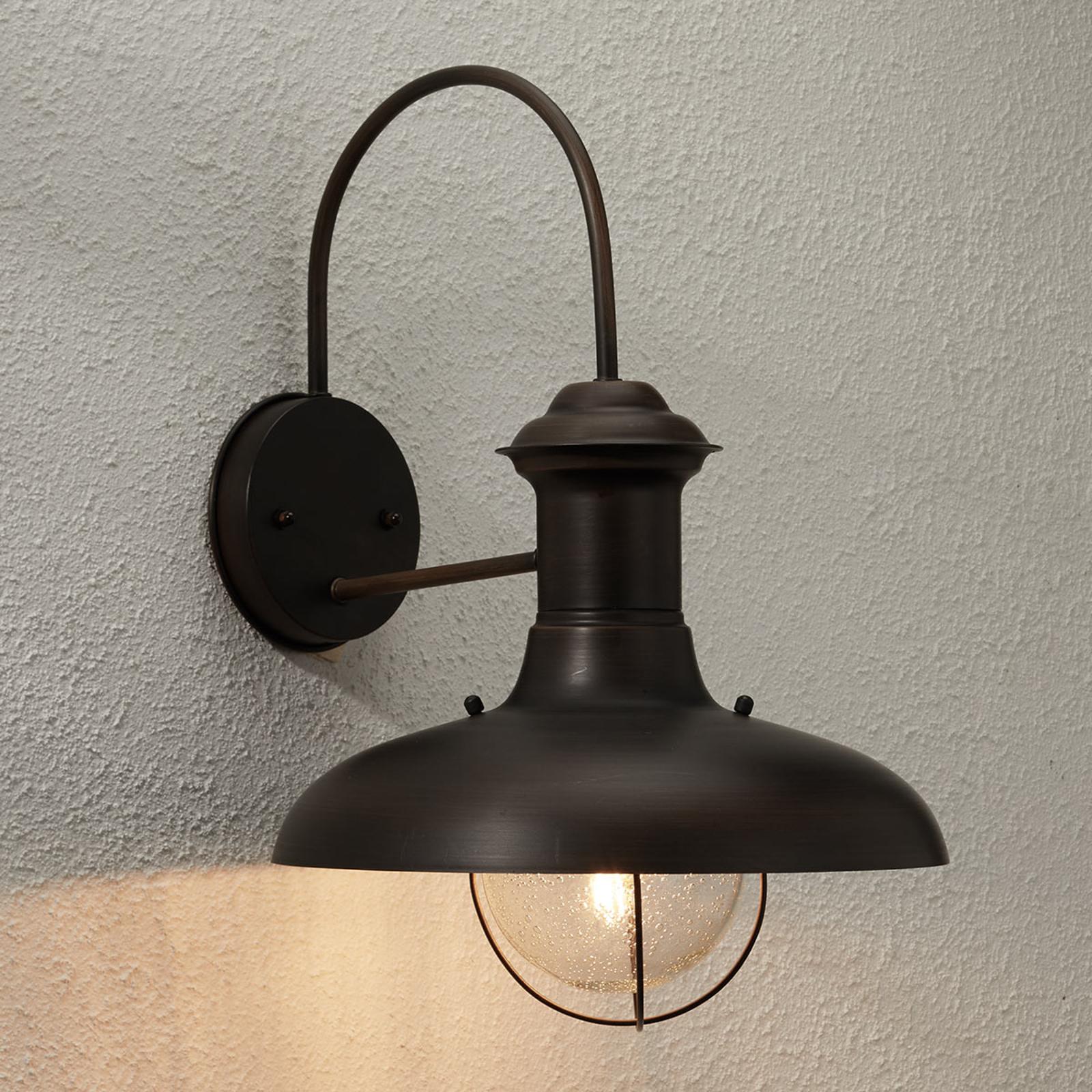 ESTORIL-G zewnętrzna lampa ścienna oksydowana brąz