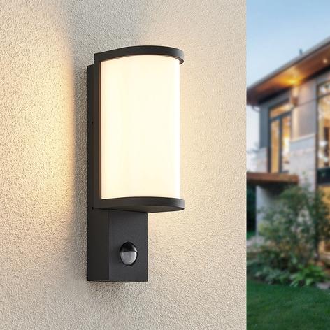 Lucande Jokum applique d'ext. LED, IP54, capteur