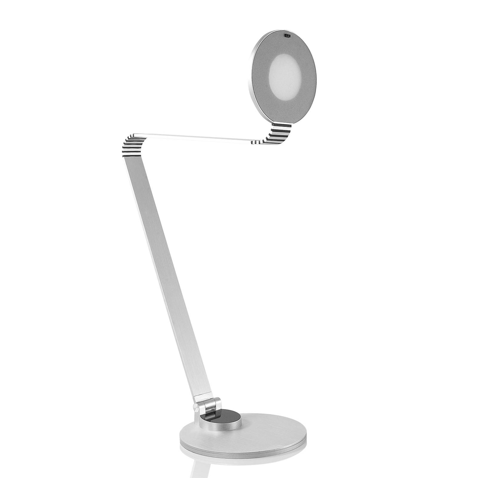 TRAE Muse lampka biurkowa LED, 4000K aluminium