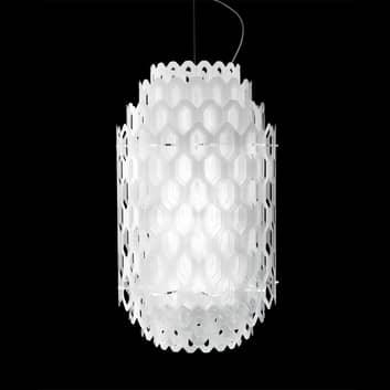 Hvid LED-designer pendellampe Chantal