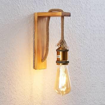 Lindby Helou aplique de madera
