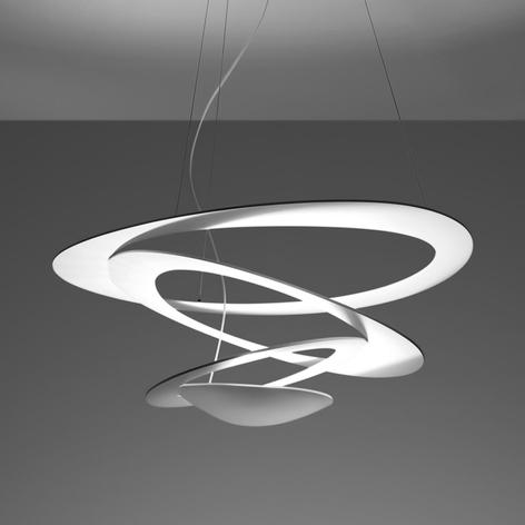 Biała designerska lampa wisząca Pirce
