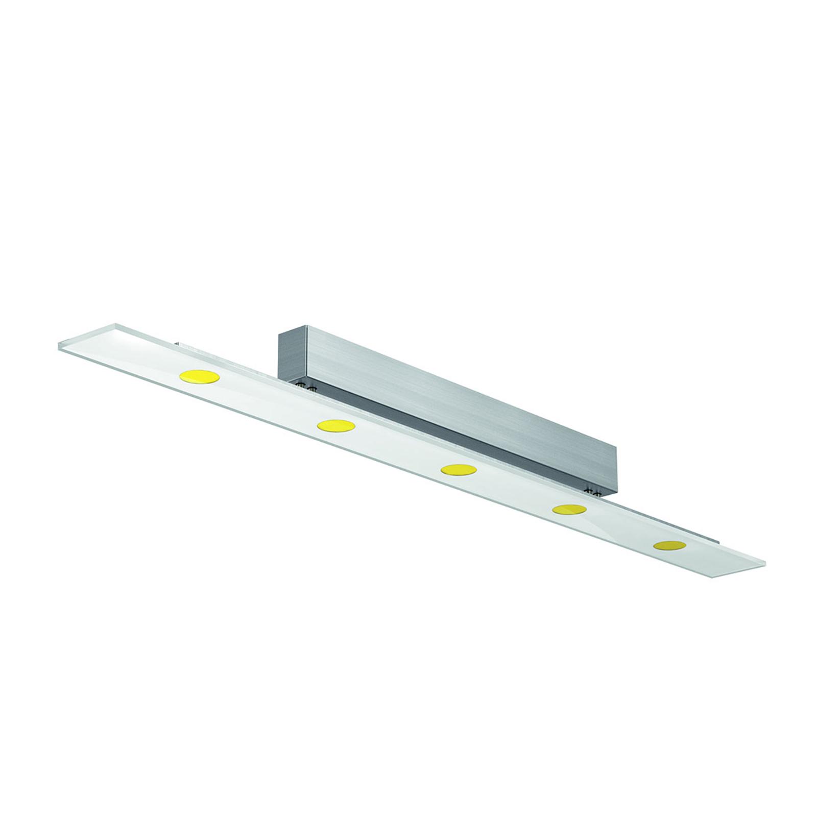 LED-taklampe Sun med ESG-glass på 110 cm