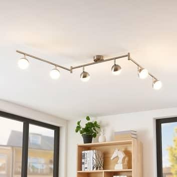 Lindby Lientje lámpara LED de techo, 6 luces