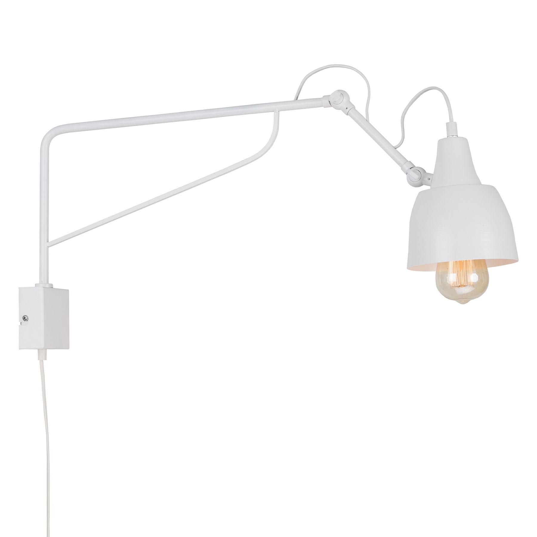 Applique 1002 avec prise, à 1 lampe, blanche