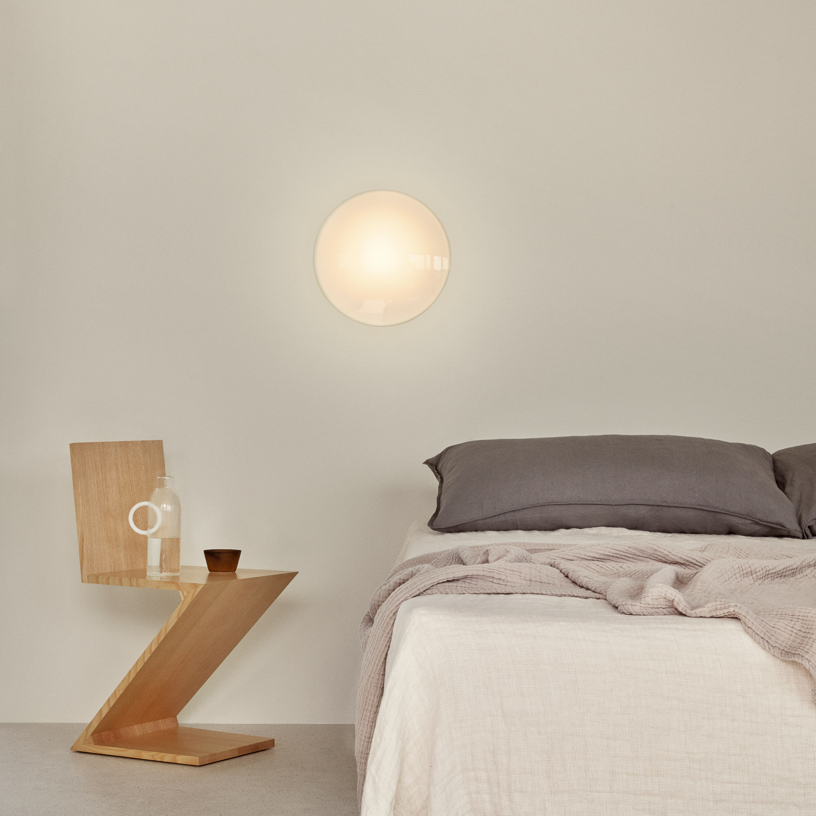 Ronde LED wandlamp AJ Eklipta, dimbaar