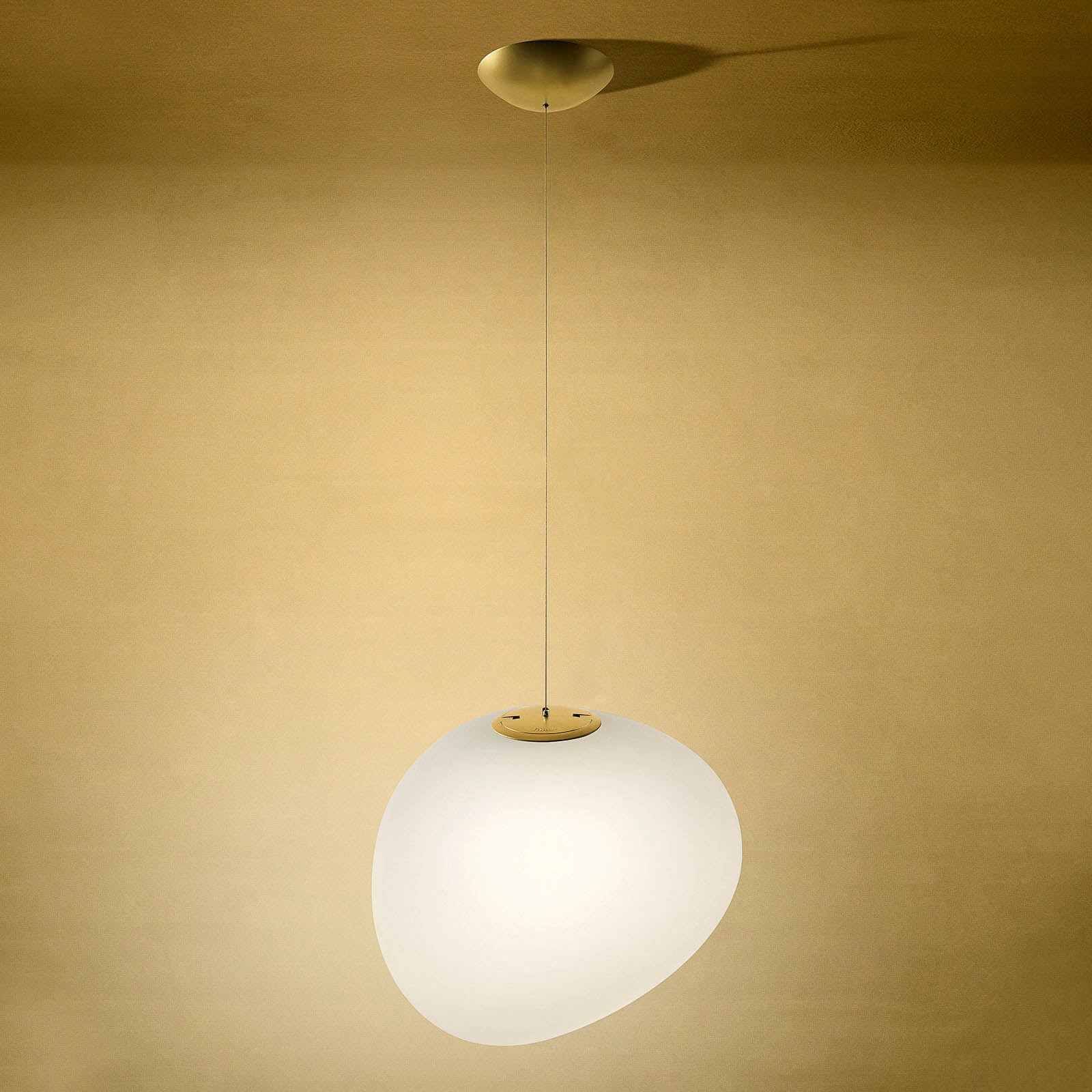 Foscarini Gregg midi suspension LED, dorée