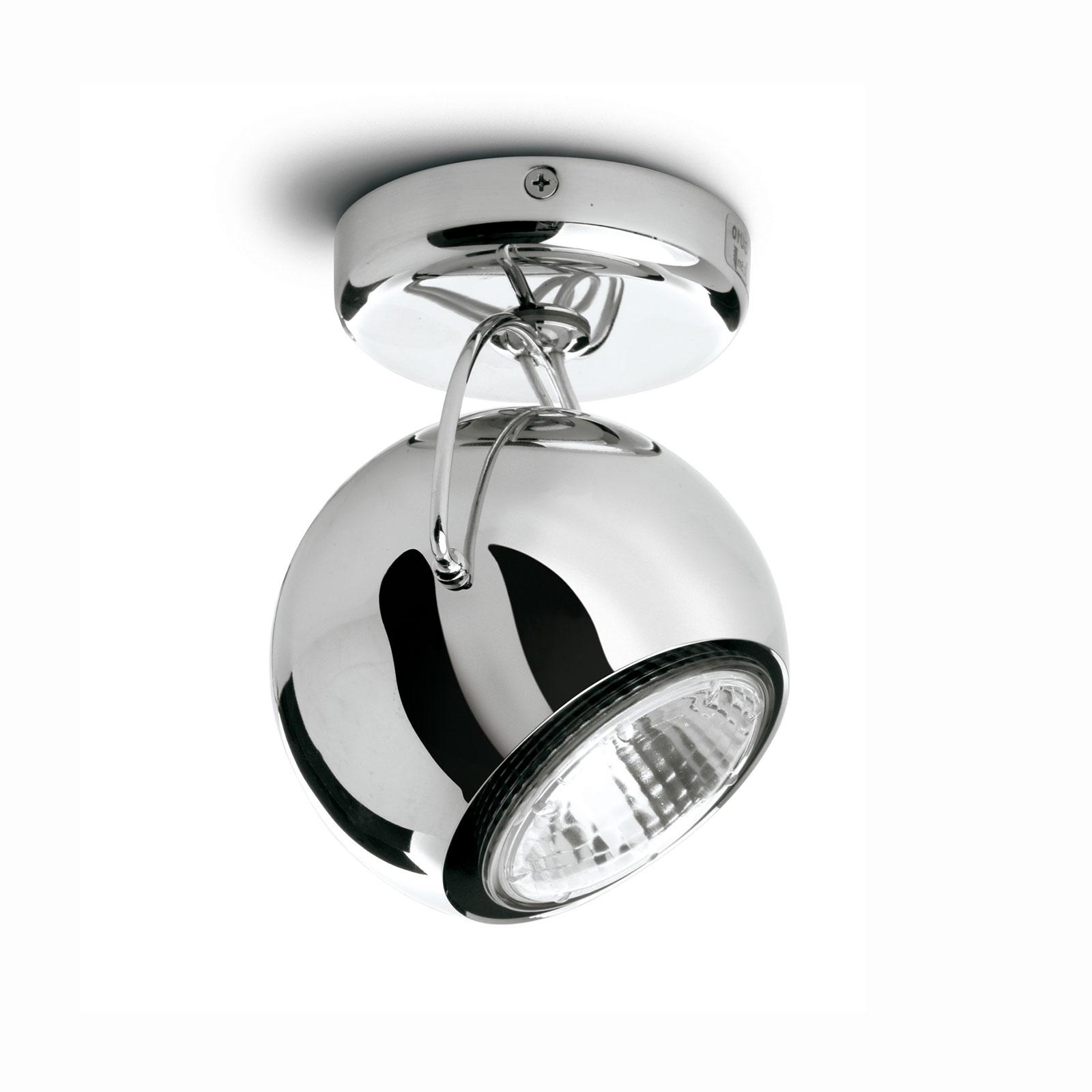 Fabbian Beluga Steel Deckenlampe direkt einflammig