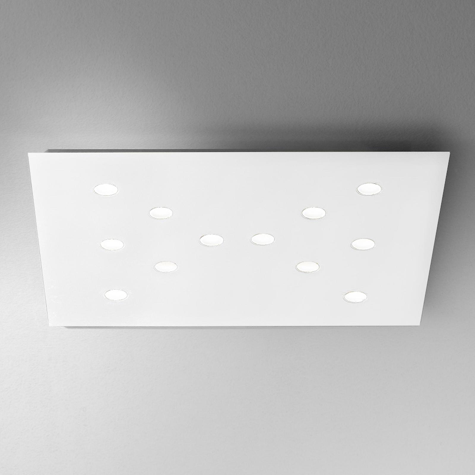 Płaska lampa sufitowa LED Slim 12-punktowa biała
