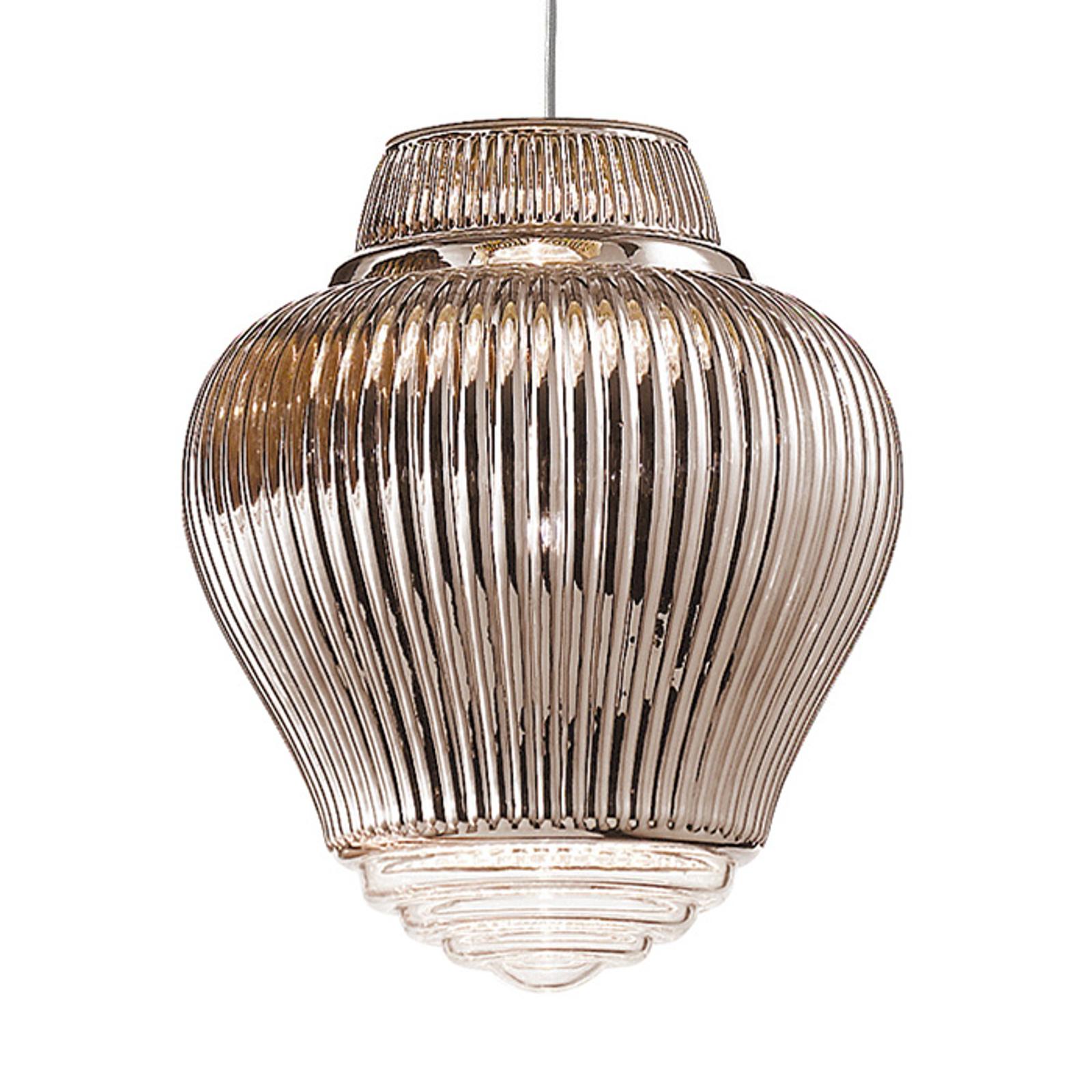 Lampa wisząca Clyde 130 cm różowe złoto metallic