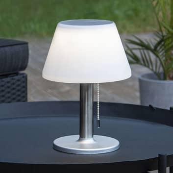 LED-solcelle-bordlampe Solia med trekksnor