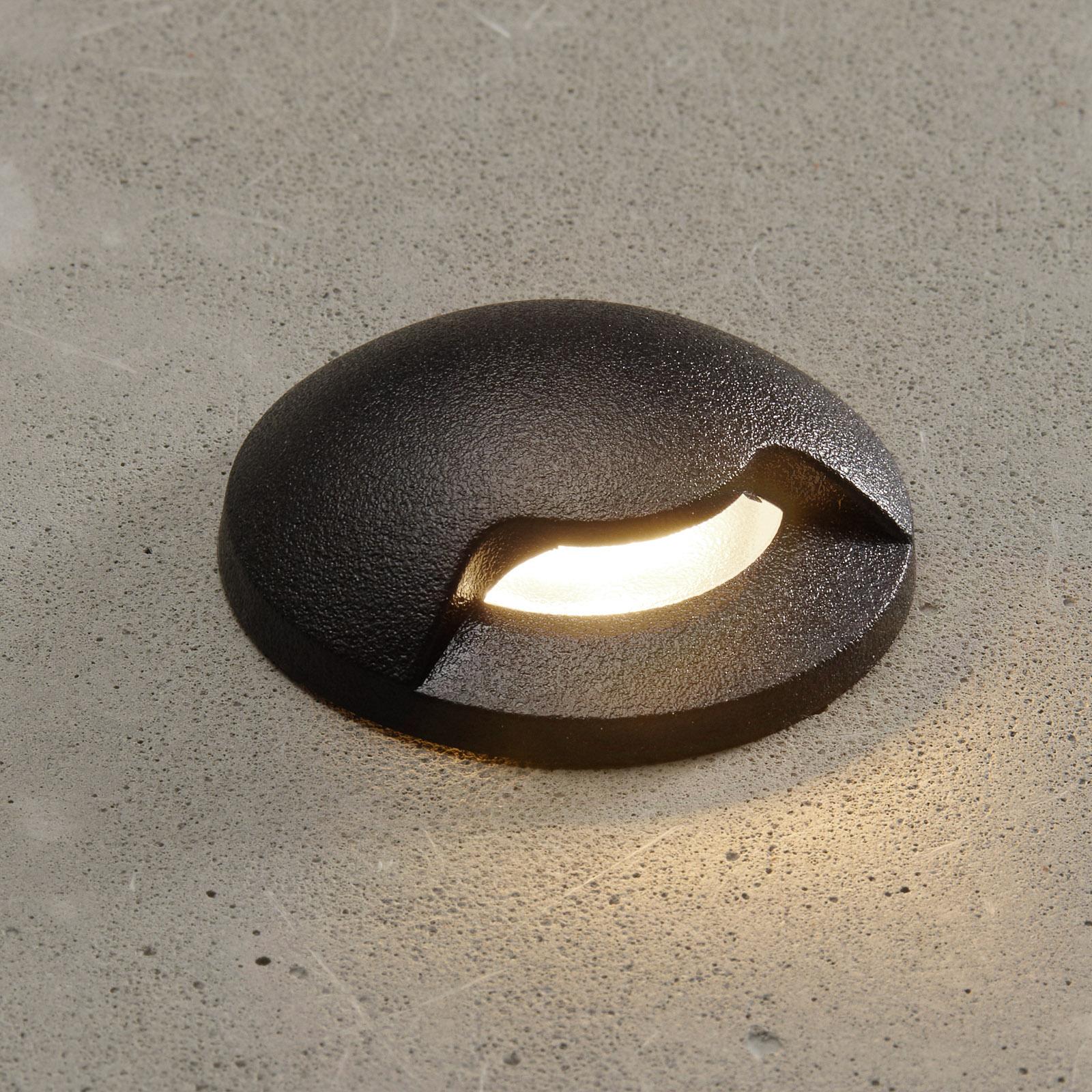 LED inbouwlamp Aldo 1L zwart/helder 3.000K