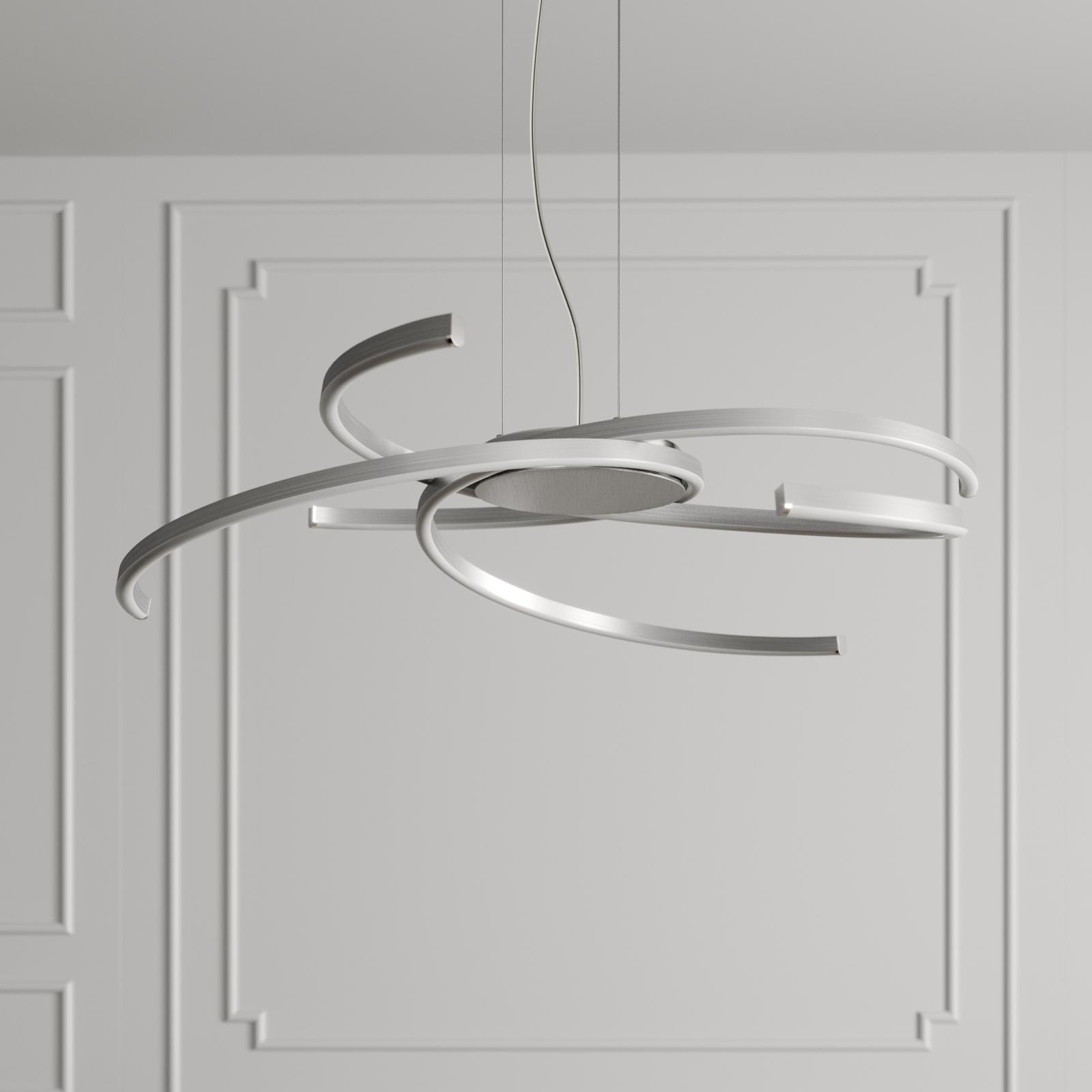 Lindby Katris lampa wisząca LED, 73 cm, aluminium