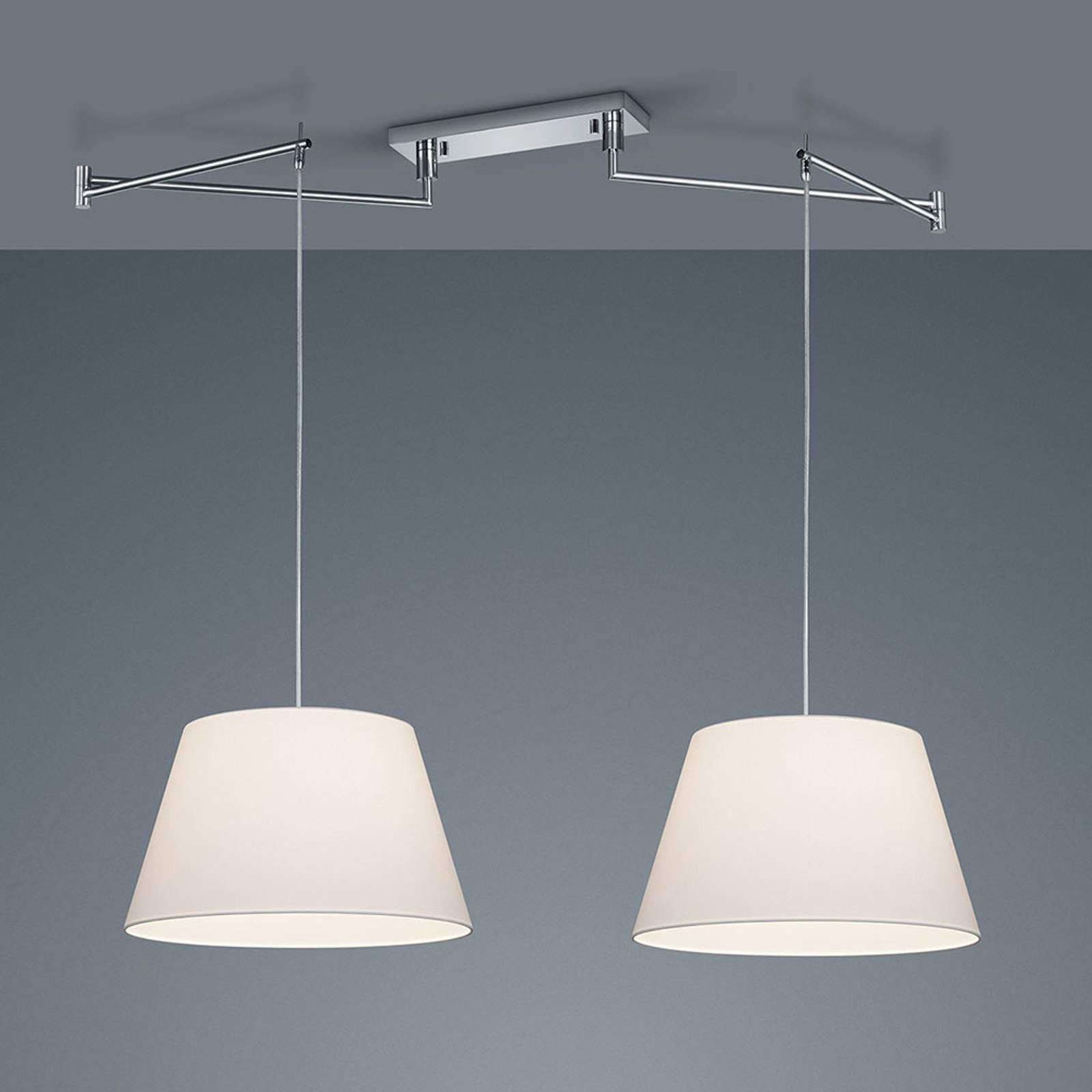 Helestra Certo suspension conique 2 lampes blanche