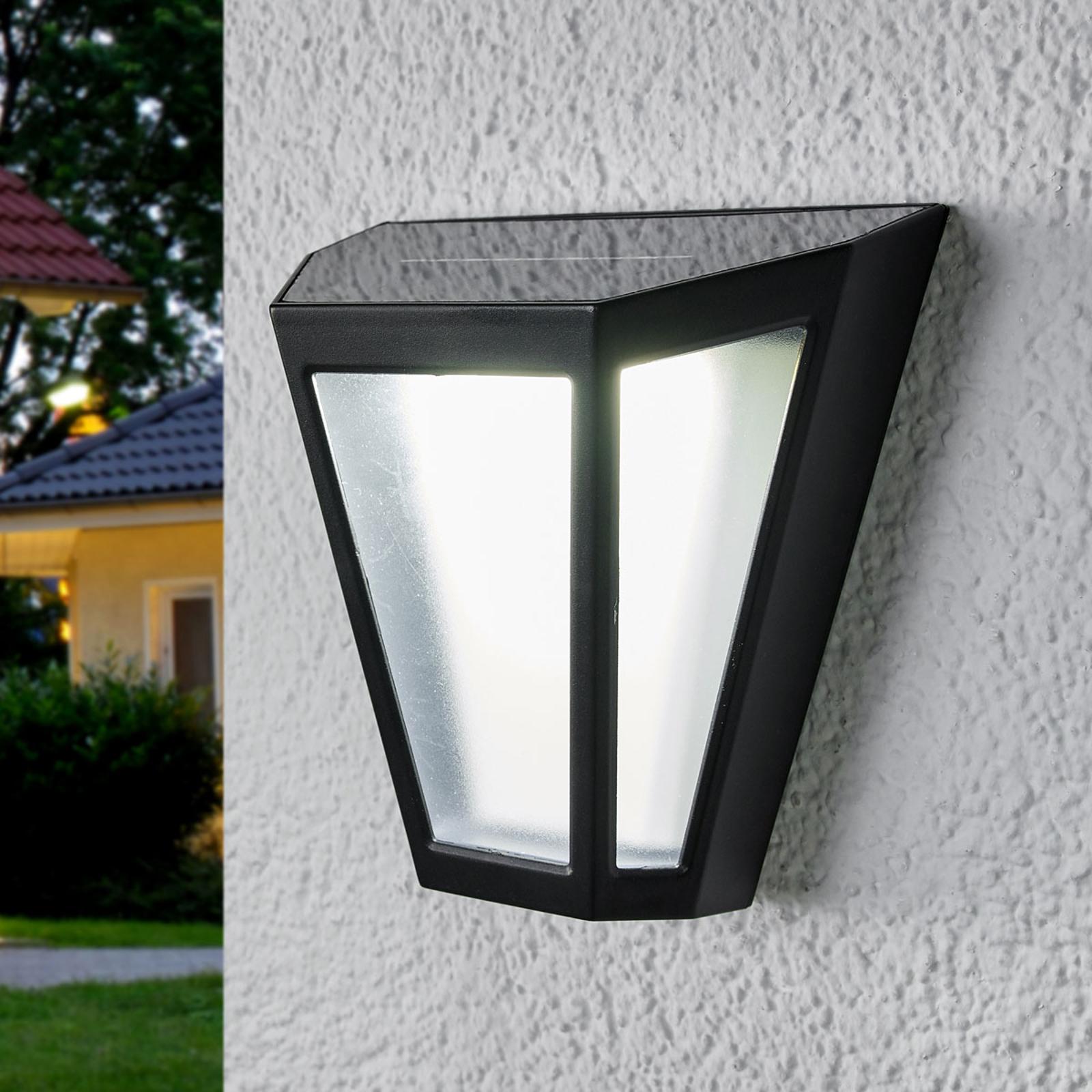 Solarny kinkiet LED Yago, matowy klosz