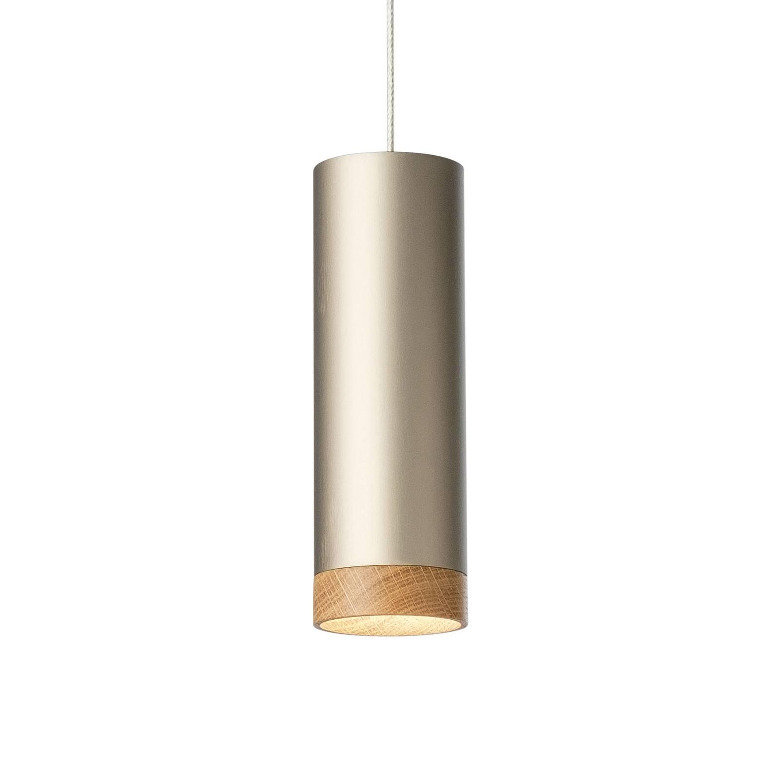 LED-Pendelleuchte PHEB, silberbronze/eiche
