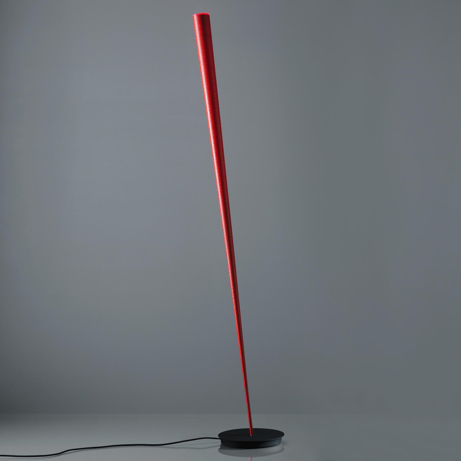 Designer-golvlampa Drink i rött