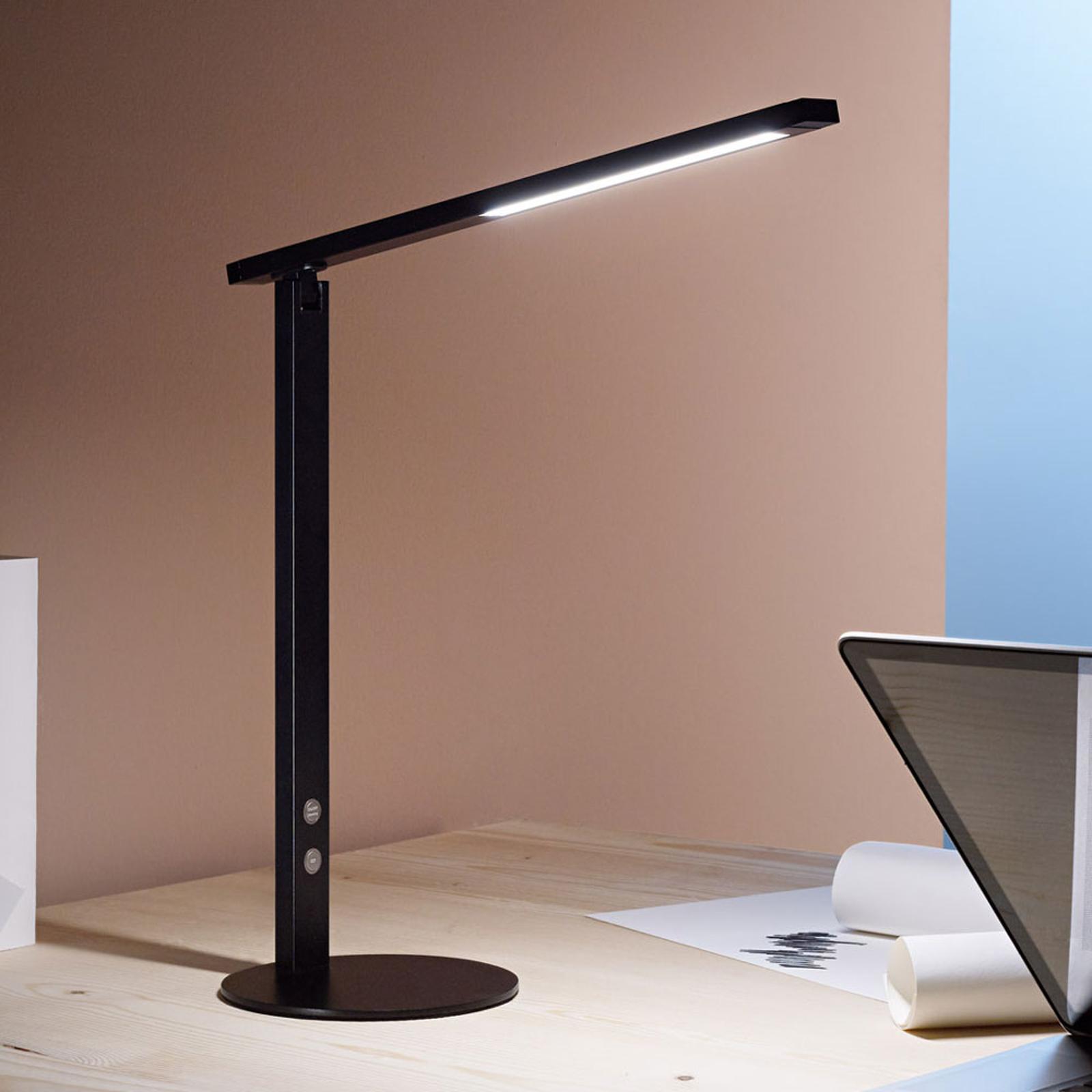 LED bureaulamp Ideal met dimmer, zwart