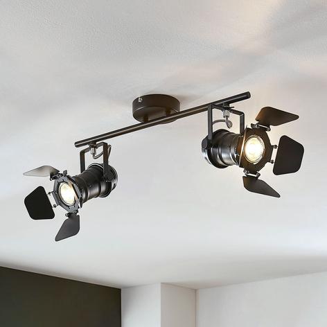 Taklampa Tilen, 2 lampor strålkastaroptik