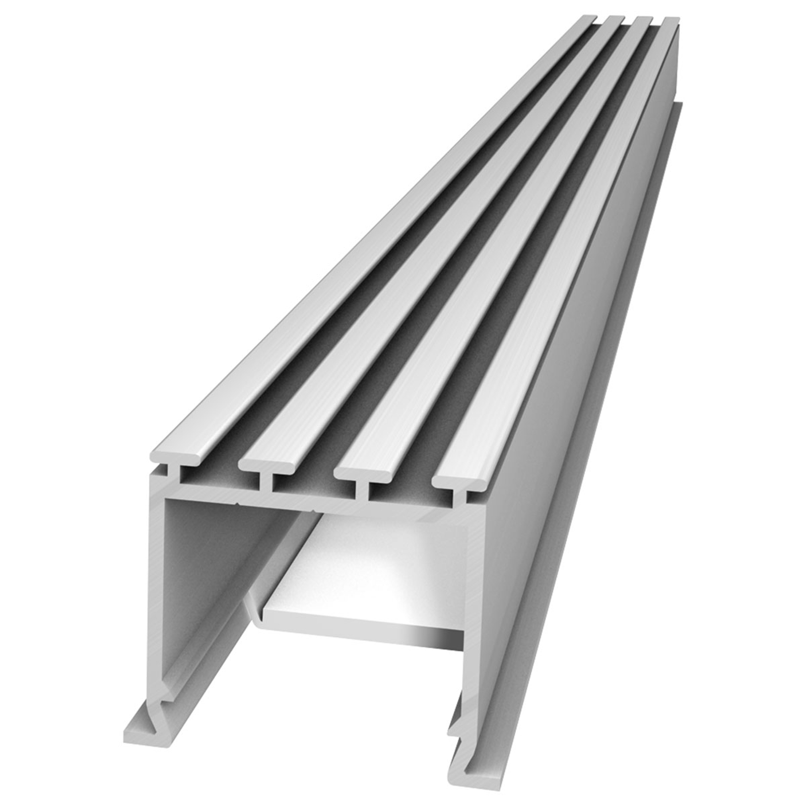 M24 LED aluminium-profil, 30 mm bred innsky.profil